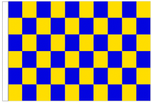 Royal Blue And Yellow Check 5' x 3' Larger Sleeved Flag